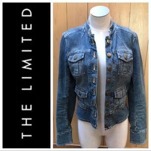 The Limited military style denim jacket